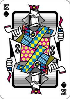 victor cmyk plaing cards design