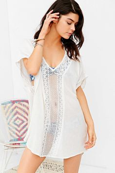 Band Of Gypsies Caftan Mini Dress