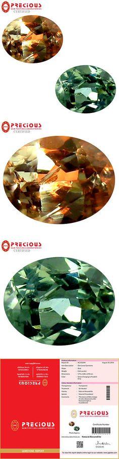 Alexandrite 10190: 0.64 Ct Pgtl Certified (6 X 5 Mm) Change From To Purplish Grey Alexandrite -> BUY IT NOW ONLY: $259.99 on eBay!