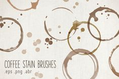 Check out Coffee Stain Brushes by Paper Cards on Creative Market