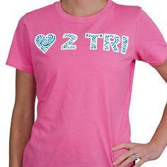 Womens Everyday Runners Tee LOVE 2 TRI | Running Womens Cotton Tshirts