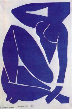Nu bleu La gouache découpée Paris , Musée nationale d'Art Moderne de Henri Matisse (1869-1954, France)