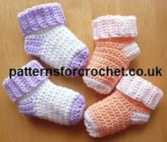 Free Easy Crochet Patterns Baby Socks
