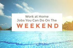 Are you always on the lookout for ways to earn extra cash? Do you have a full-time job which uses up most of your time? Would you like to kick back and work at something totally different on the weekend? Well, keep reading. There are many work-at-home companies with no set schedule. These jobs give you the flexibility to earn extra money just on the weekends if you need more coming in than what your five days a week 9 to 5 brings. What Type Of Work Would You Like To Do On The Weekends To…