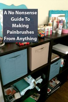 A No Nonsense Guide To Making Painbrushes From Anything Painted Trays, Painted Paper, Fun Crafts, Diy And Crafts, Crafts For Kids, How To Make Something, Get To Know Me, Wooden Crafts, Craft Items