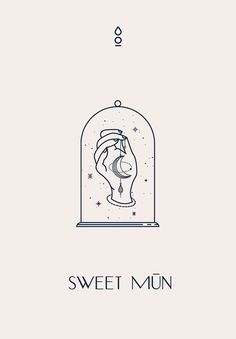 Sweet Mūn Brand Identity by Cocorrina The Effective Pictures We Offer You About name Logo Design A q Corporate Identity Design, Brand Identity, Watercolor Logo, Website Design, Web Design, Logo Restaurant, Hotel Logo, Emblem Logo, Vector Logos