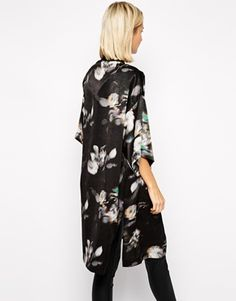 River Island Blurred Floral Kimono Jacket (from ASOS)
