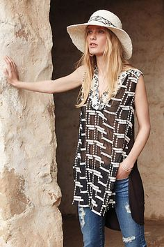 Embroiderd Chaparral Tunic