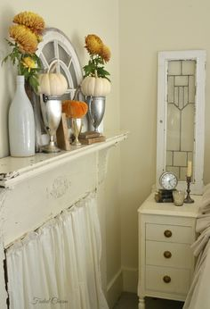 Faded Charm: ~Bedroom Mantel in Autumn~