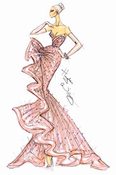 #Hayden Williams Fashion Illustrations  #Oscars 2013 Couture by Hayden Williams