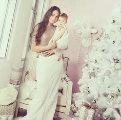 Woman's weekly Editorial 'Baby's first Christmas ' featuring Rachel Williams and Storm Williams