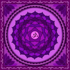 °Crown Chakra ~ The Crown Chakra (Sahasrāra Chakra in Sanskrit) is located on the crown of the head beneath the Fontanelle, which is easily visible in a new-born child. It is also known as the Thousand-petalled Lotus, Brahmrandhra (door to Brahma) & Source of Light (because a supernatural light as bright as the sun radiates from it).