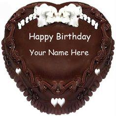 happy birthday cake images with Tushar Baba