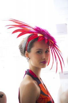 Bright Feather Fascinator