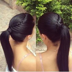 .. Baby Girl Hairstyles, Work Hairstyles, Hair Health And Beauty, Hair Beauty, Long Hair Tumblr, Curly Hair Styles, Natural Hair Styles, Cabello Hair, Braided Ponytail Hairstyles