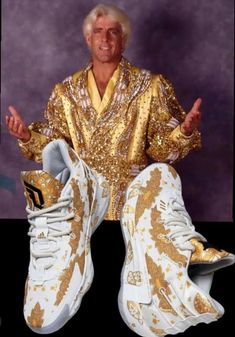 Adidas Dame, Metallic Gold Color, Damian Lillard, Gold Color Scheme, Like Mike, Stone Cold Steve, Ric Flair, Steve Austin, Sneaker Heels