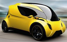 Future Transportation - Aventos Vehicle Concept for Mega Cities Electric Car Concept, Electric Cars, Future Car, Mini Car, Flying Vehicles, Future Transportation, Yellow Car, Smart Car, Futuristic Cars