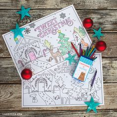 Keep your kids occupied this Christmas with our holiday coloring placemats! Simply download and print our design onto 11 x 17 copy paper