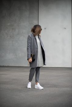 Autumn - Winter greys with reebok white classics