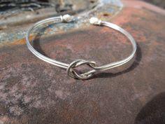 Sterling Silver Bracelet Cuff Knot Woven by griffincat on Etsy, $19.99