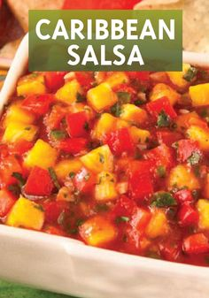 This Caribbean Salsa dip recipe is sure to be a hit at your next summer party!