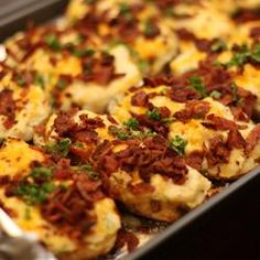 (Tried this, would make a few changes but it was real good as is. Kids loved it. )Ultimate Twice-Baked Potatoes