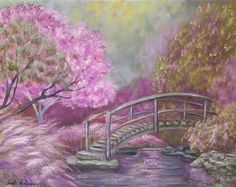 Purple Fantasy Garden acrylic painting tutorial #angelafineart #acrylicpaint #art #Youtube #tutorial #free