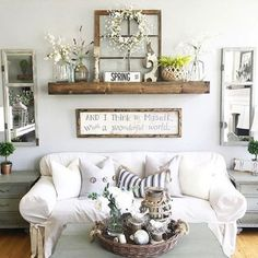 Awesome 39 SImple Rustic Farmhouse Living Room Decor Ideas https://cooarchitecture.com/2017/06/07/39-simple-rustic-farmhouse-living-room-decor-ideas/