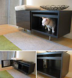 IKEA hack for cat litter box: http://www.moderncat.net/wp-content/uploads/2009/05/ikeabox1.jpg
