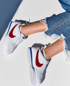 outlet store 22312 0709e Nike Classic Cortez Premium Sneaker    style me grasie   style me wants -  red, white, blue
