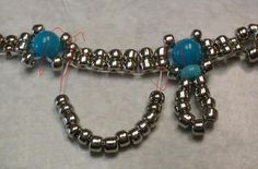 Tutorial : Beaded Anklet  (or necklace).  #seed #bead #tutorial