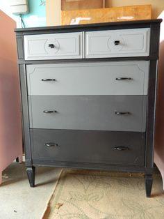 grey ombre refurbished dresser!
