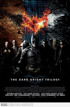 The Dark Knight Trilogy with Christian Bale, Liam Neeson, Heith Ledger, etc.