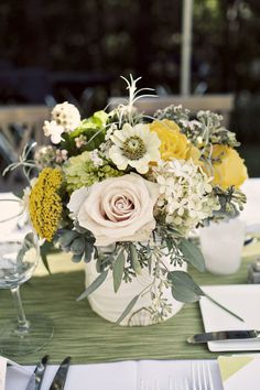 Style Me Pretty | Gallery & Inspiration | Picture - 177489 love the golden yellows mixed with blush and sage tones
