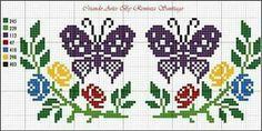 Butterfly Cross Stitch, Mini Cross Stitch, Cross Stitch Heart, Cross Stitch Cards, Cross Stitch Flowers, Counted Cross Stitch Patterns, Cross Stitching, Cross Stitch Embroidery, Cross Designs