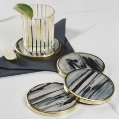 BuyJust Slate Horn-Effect Coasters, Set of 4 Online at johnlewis.com