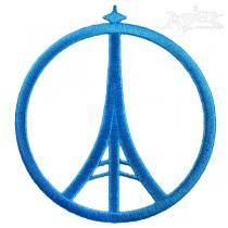 eifel-dst Eiffel Tower Peace Sign embroidery Designs
