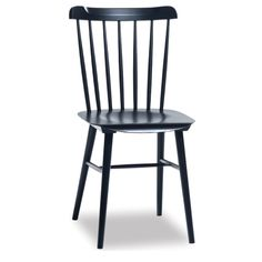 Superior Spindle Back Dining Chair   Black