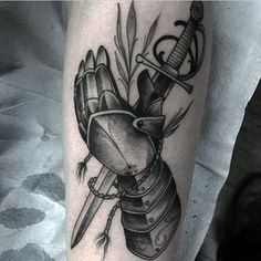 knight-hand-armor-holding-sword-mens-tattoo.jpg (578×578)