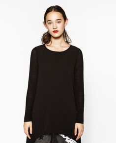 Image 2 of EXTRA LONG ASYMMETRIC TOP from Zara