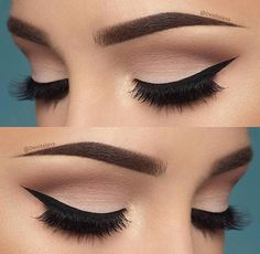 10 Hottest Eye Makeup Looks – Makeup Trends: Natural Smokey Eye with Thick Eyeliner Cut Crease Eyeshadow, Blending Eyeshadow, Eyeshadow Makeup, Neutral Eyeshadow, Makeup Brushes, Gel Eyeliner, Eyeshadow Palette, Purple Eyeshadow, Shimmer Eyeshadow