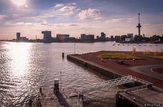 About Pixels posted a photo:  Beeld op de Nieuwe Maas vanaf de SS Rotterdam - Rotterdam/NL