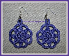 _ _ _ Fili di Fantasia : SCHEMI ORECCHINI ALL'UNCINETTO...................... FREE PATTERNS CROCHET EARRINGS