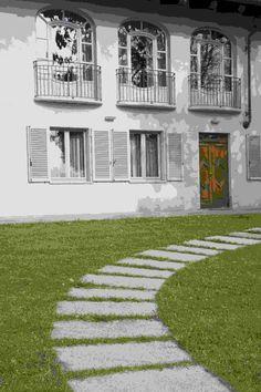 8 fantastiche immagini su pavimento esterno in pietra di luserna e porfido - Camminamento pietra giardino ...