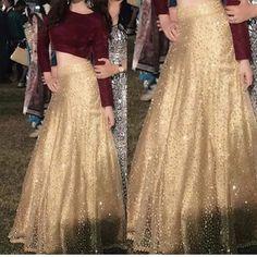 Golden Lehenga Indian Lehenga Crop top and skirt Wedding Party wear Designer chaniya choli. Ethnic clothes from India. Made to Order - Designer Dresses Couture Lehenga Crop Top, Lehenga Blouse, Lehenga Choli, Lehenga Skirt, Sarees, Choli Designs, Lehenga Designs, Mehndi Designs, Indian Gowns Dresses