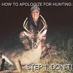"""""""I've learned to never apologize for doing something you love and never apologize for doing something that makes you happy. Hunting for me is not about the fame and fortune that people perceive that it brings female hunters, to me hunting is about providing. Providing the best meat and food for myself and family, knowing that I harvested an animal and properly cleaned it instead of the unknowing of how it's handled when purchasing meat at the grocery store. It's the gratification of seeing…"""