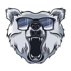 Bear Logo Illustration by Ed , via Behance