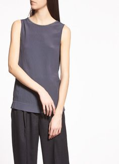 Silk crepe top, stone fabianaFilippi $418