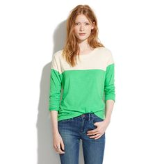 Easy Tee in Colorblock - Madewell  For a pop of color