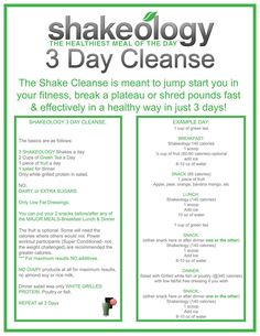 shakeology pictures | Day Shakeology Cleanse: Instructions for Max Results | Pure Shakeology ...